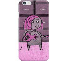 Rocker Girl (Pink) iPhone Case/Skin