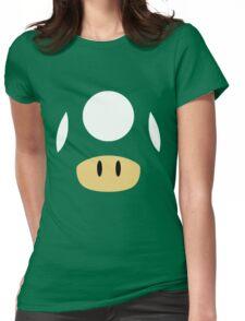 1Up & Mega Mushroom! Womens Fitted T-Shirt