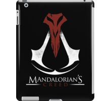 Mandalorian's Creed (black) iPad Case/Skin