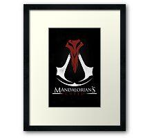 Mandalorian's Creed (black) Framed Print
