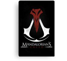 Mandalorian's Creed (black) Canvas Print