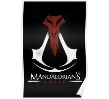 Mandalorian's Creed (black) Poster