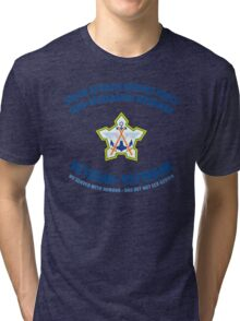 South African Defence Force Veteran (Blue Text) Tri-blend T-Shirt