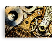 Gears and Age (color version) Canvas Print