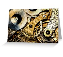 Gears and Age (color version) Greeting Card