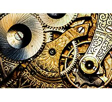 Gears and Age (color version) Photographic Print