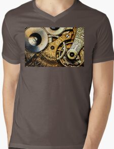 Gears and Age (color version) Mens V-Neck T-Shirt