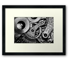 Gears and Age (black and white version) Framed Print