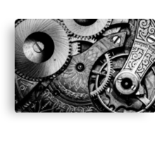 Gears and Age (black and white version) Canvas Print
