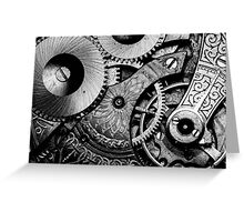 Gears and Age (black and white version) Greeting Card
