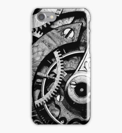 Gears and Age (black and white version) iPhone Case/Skin
