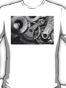 Gears and Age (black and white version) T-Shirt
