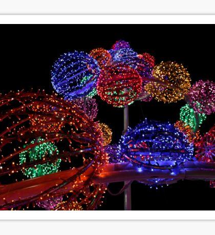Lights of  Christmas Sticker