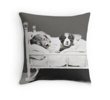 Harry Whittier Frees - The Insomniac Puppy Throw Pillow