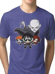 Potterpuff Kids and Mojomort Tri-blend T-Shirt
