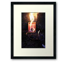 Fire Energy Framed Print