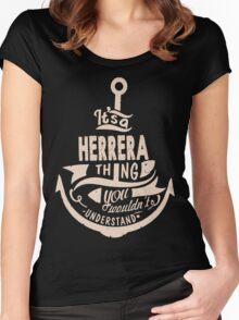 It's a HERRERA shirt Women's Fitted Scoop T-Shirt