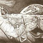 Astronaut drawing by RobCrandall