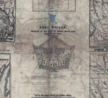 Civil War Maps 1907 War maps and diagrams 02 Sticker