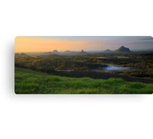 Sunrise Over the Glass House Mountains Canvas Print