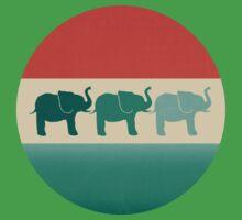 Three Elephants - Burnt orange, cream & teal Kids Clothes