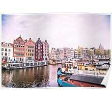 Amsterdam Tilted Houses Poster