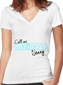 Artwork #867-5309 Women's Fitted V-Neck T-Shirt