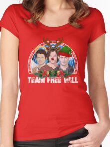 Deck the Halls with TFW Women's Fitted Scoop T-Shirt