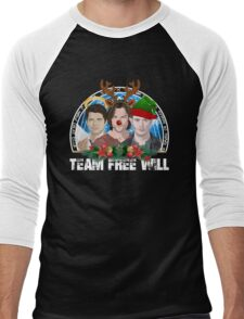 Deck the Halls with TFW Men's Baseball ¾ T-Shirt