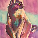 Purple puss by christine purtle