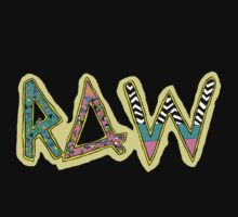RAW 80's/90's PATTERN TEE by RAW Clothing