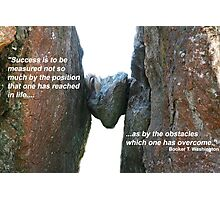 Overcoming obstacles Photographic Print