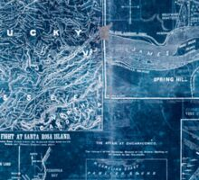 Civil War Maps 1907 War maps and diagrams Inverted Sticker