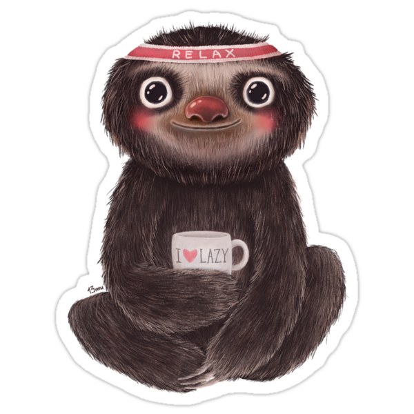 Sloth I♥lazy by limeart