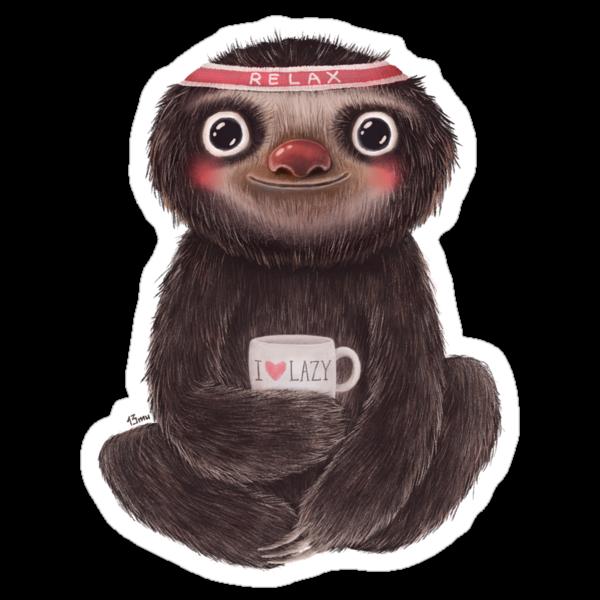 Sloth I?lazy by limeart