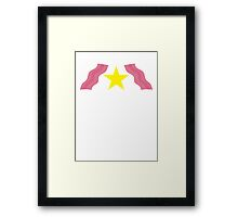 BACON rinds star strips Framed Print