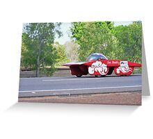 Darwin to Adelaide Solar Car Challenge 2013 Greeting Card