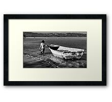 Back to the mooring Framed Print