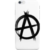 Circle-A Anarchy Symbol (light t-shirt version) iPhone Case/Skin