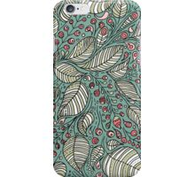 Leaves and berries pattern illustration iPhone Case/Skin