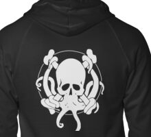 Pirate octopus Zipped Hoodie