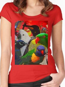 Birds of a Different Feather Women's Fitted Scoop T-Shirt