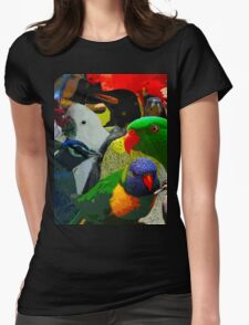 Birds of a Different Feather Womens Fitted T-Shirt