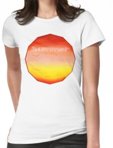 Summer Clouds Womens Fitted T-Shirt