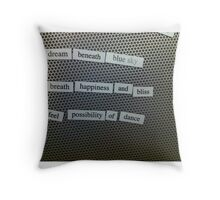 Magnetic poetry Throw Pillow