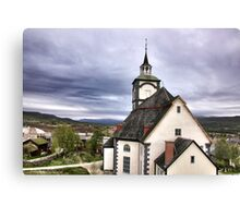 Church in the sky Canvas Print