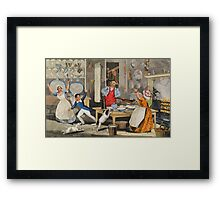 Yoicks!... Tally Ho!...Look out for the Pastry! Framed Print