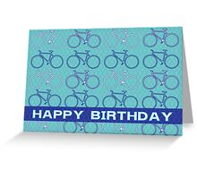 Bike Pop Green Greeting Card