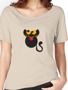 Cute Cat Tee Shirt Women's Relaxed Fit T-Shirt