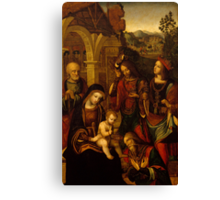 The Adoration of the Kings Canvas Print